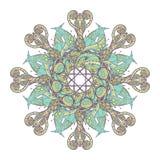 mandala Modelo ornamental redondo del cordón étnico Flor dibujada mano hermosa Imágenes de archivo libres de regalías