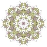 mandala Modelo ornamental redondo del cordón étnico Flor dibujada mano hermosa Imagen de archivo