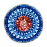 Mandala. Modelo redondo del ornamento. Fotografía de archivo