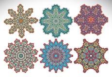 mandala Modelo redondo del ornamento Imagenes de archivo