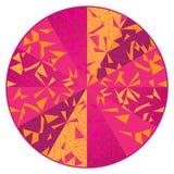Mandala moderna del triangolo di arte del cerchio illustrazione di stock