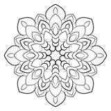 Mandala monochrome Un modèle de répétition en cercle Un beautif illustration de vecteur