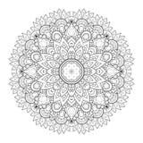 Mandala monocromática bonita do contorno de Deco do vetor ilustração do vetor