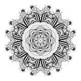 Mandala monocromática hermosa del contorno de Deco del vector Imagen de archivo