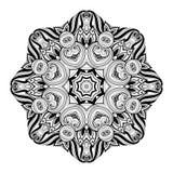 Mandala monocromática hermosa del contorno de Deco del vector Fotografía de archivo