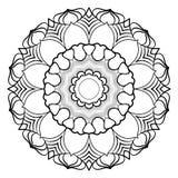 Mandala monocromática para el libro del color Un modelo en el círculo illu Fotografía de archivo libre de regalías
