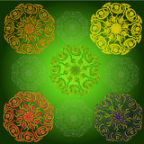 Mandala motifs Royalty Free Stock Photo