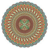 Mandala multicolor. Boho style, hippie jewelery. Round Ornament Pattern. Vintage decorative elements. Оriental pattern. Arabic, Indian. Can be used to fabric Stock Photos