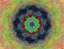 Mandala Multicolor. Drawing of a Mandala Multicolor royalty free illustration