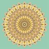 Mandala multicolore, ornement indien Conception est et ethnique, modèle oriental, rond Pour l'usage dans le tissu, copie, tatouag illustration stock