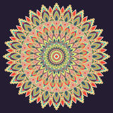 Mandala multicolored, indian ornament. East, ethnic design, oriental pattern, round . For use in fabric , print, tattoo, fretwork, Stock Photography