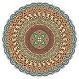 Mandala multicolorido Estilo de Boho, joia da hippie Teste padrão redondo do ornamento Elementos decorativos do vintage Teste pad ilustração stock
