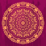 Mandala mystic circle in mehendi style Royalty Free Stock Photo