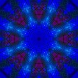 Mandala mystique abstrait numérique d'énergie de contexte de kaléidoscope, magie moderne orientale illustration de vecteur