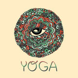 Mandala mystique de vecteur illustration libre de droits