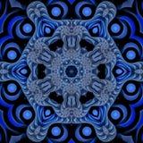Mandala náutica azul Foto de Stock Royalty Free