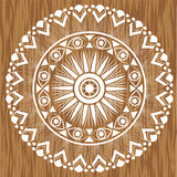 Mandala na drewnianym tle Obraz Royalty Free