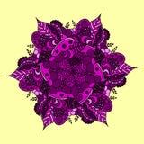 Mandala nad kolorowym fotografia stock