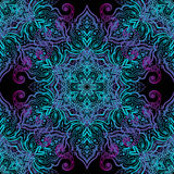 Mandala-nahtloses Muster Lizenzfreies Stockfoto