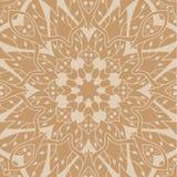Mandala-nahtloses Muster Ethnische mit Blumenzusammenfassung stock abbildung