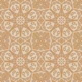 Mandala-nahtloses Muster Ethnische mit Blumenzusammenfassung lizenzfreie abbildung
