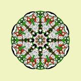 Mandala-nahtloses Muster Ethnische mit Blumenzusammenfassung vektor abbildung