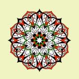 Mandala-nahtloses Muster Ethnische mit Blumenzusammenfassung Lizenzfreies Stockbild