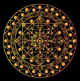 Mandala negra Fotografía de archivo libre de regalías