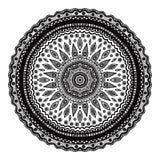 Mandala negra, adorno indio Ornamento redondo adornado libre illustration