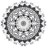 Mandala negra del vector Imagenes de archivo
