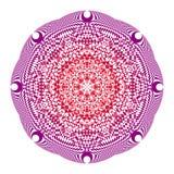 Mandala nei colori rossi e porpora su un fondo bianco fotografia stock