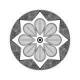 Mandala nera Fotografie Stock