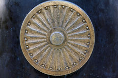 Mandala no fundo azul Imagens de Stock