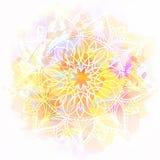 Mandala no fundo da aquarela Imagem de Stock
