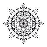 Mandala noir et blanc Photographie stock libre de droits