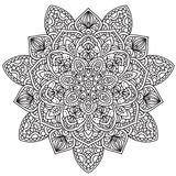 Mandala noir et blanc Photos stock
