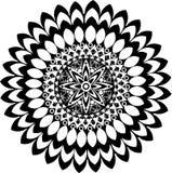 Mandala noir et blanc illustration stock
