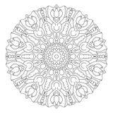 Mandala noir et blanc de vecteur Photo stock