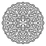 Mandala noir et blanc de vecteur Images stock