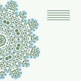mandala O laço do Doily, fundo do círculo com muitos detalhes, olha ilustração stock
