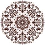 mandala O teste padrão circular da mão handmade Imagens de Stock Royalty Free