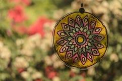 Mandala och trädgård Arkivbild