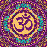 Mandala ohm Stock Photography