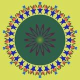 Mandala okręgu abstrakcjonistyczny tło Fotografia Stock