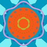 Mandala okręgu abstrakcjonistyczny tło Obrazy Stock
