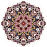 Mandala, okręgu dekoracyjny duchowy indyjski symbol Zdjęcie Royalty Free
