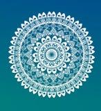 Mandala om ornament Stock Afbeelding