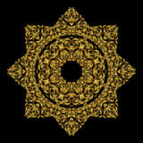 Mandala om ornament Arabische Uitstekende decoratief Gouden achtergrond Het oosten, Islam, Thai, Indiër, ottomanemotieven Abstrac Royalty-vrije Stock Foto's