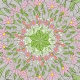 Mandala om ornament, stammen Arabisch etnisch Indisch motief, cirkel symmetrisch abstract bloemen geometrisch patroon Stock Foto
