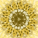 Mandala om ornament, stammen Arabisch etnisch Indisch motief, cirkel symmetrisch abstract bloemen geometrisch patroon Stock Afbeeldingen